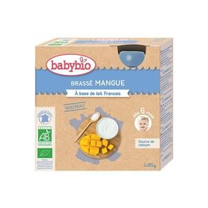 Gourde de yaourt brassé mangue Babybio 4 x 85 g 406824