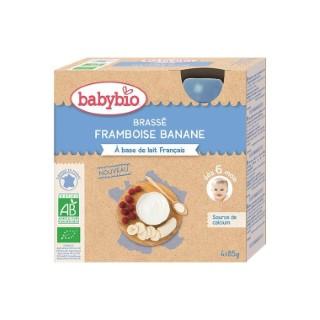 Gourde de yaourt brassé framboise et banane Babybio 4 x 85 g 406825