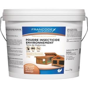 Poudre insecticide Environnement Terre de Diatomée en seau de 2 Kg 406944