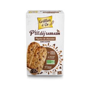 Biscuits petit déjeuner au sarrasin et pépites de chocolat bio 150 406991