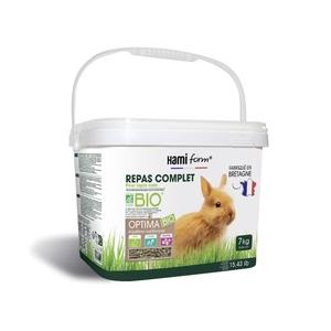 Repas complet bio pour lapin nain en seau de 7 kg 407212