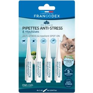 Pipettes anti-stress et répulsives pour chat - 4 x 1 ml 407269
