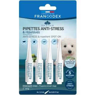 Pipettes anti-stress et répulsives pour chiot et petit chien x 4 407270
