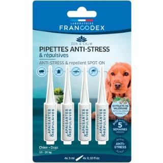 Pipettes anti-stress et répulsives pour chien x 4 407271