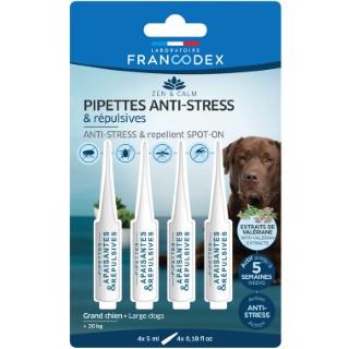 Pipettes anti-stress et répulsives pour grand chien x 4 407273