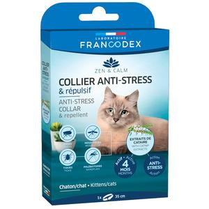 Collier anti-stress et répulsif pour chat et chaton - 35 cm 407275