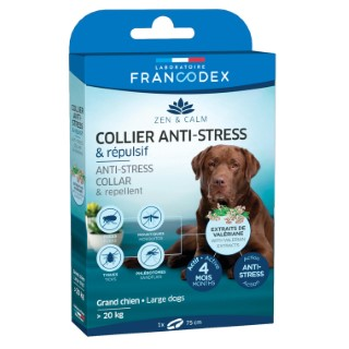 Collier anti-stress et répulsif pour grand chien - 60 cm 407278