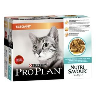 Boite de 10 sachets pour chat PP Wet Cat Derma plus Cabillaud 10x85 g 407343