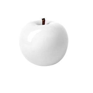 Pomme décorative à suspendre blanc laqué Ø 6,5 cm 407475
