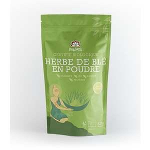 Herbe de blé en poudre bio en paquet vert de 125 g 407528