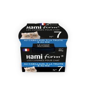 Boîte Chat Hamiform 80g, cabillaud, truite et riz 407750