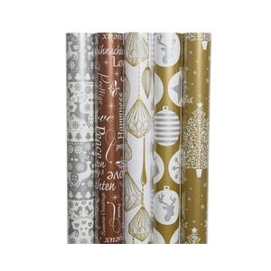 Rouleaux de papier cadeau Xmas or - 70x200 cm 407898