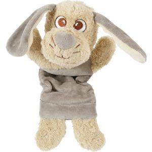 Jouet peluche nature Louise en coton beige 13x7,5x21 cm 408146
