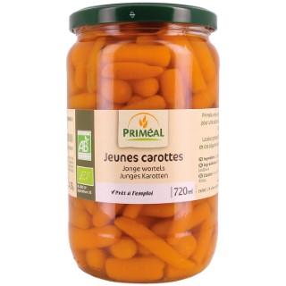 Jeunes carottes bio en pot de 720 ml 408471