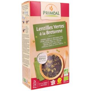Lentilles vertes bretonnes bio en sachets de 2 x 125 g 408478