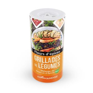 Fleurs d'épices bio pour grillades de légumes en tube de 20 g 408487