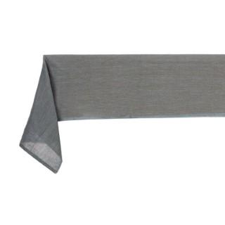 Nappe grise unie en coton 150 x 225 cm 408735