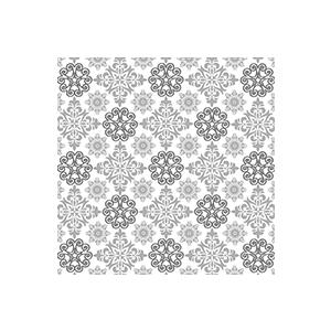 Serviettes x20 3 plis 33x33 cm Ornamental silver 408881