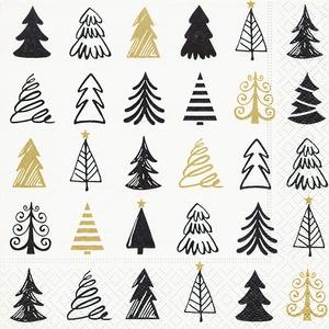 Serviettes x20 3 plis 33x33 cm Graphical trees 408894