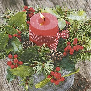 Serviettes x20 3 plis 33x33 cm The first candle 408897