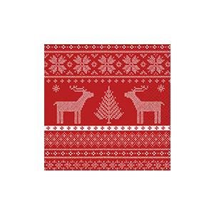Serviettes x20 3 plis 33x33 cm Hélène red 408912