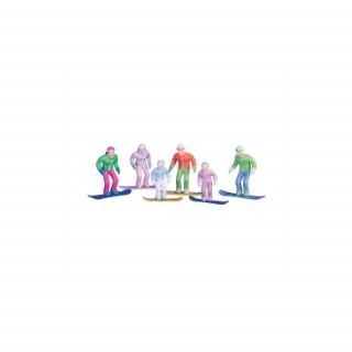 Figurines debout en Snowboard le lot de 6 408983