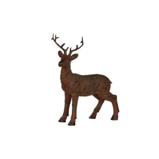Figurine de cerf debout en résine 15 x 5,5 x 19 cm 409065