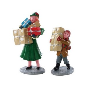 Set de 2 Figurines Christmas Rush 6,5x5,6x2,8 cm Multicolore 409146