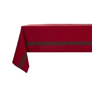 Nappe rouge avec sa rayure grise 150 x 250 cm 409226