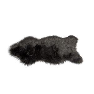 Tapis en fourrure synthétique à poils longs Gris ou Noir 50x90 cm 409283