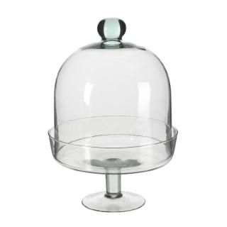 Diny Cloche en verre Transparent H 28,5 x Ø 20 cm 409488
