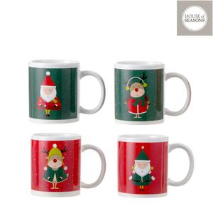 Tasse Noël rouge ou vert – h9,5 x ?8 cm 409505