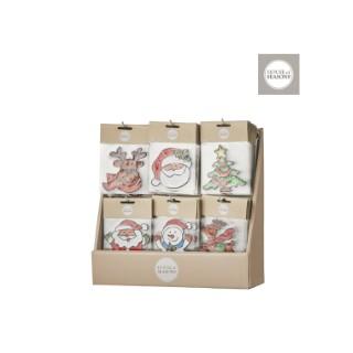 Décoration carreaux Christmas rouge 409514