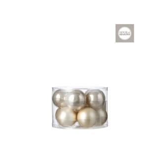 Boules en verre champagne Ø 6 cm en boite de 10 409520