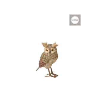 Hibou marron grand - 24cm de haut 409526