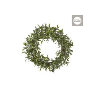 Couronne touffe de gui vert – 10x50 cm 409531