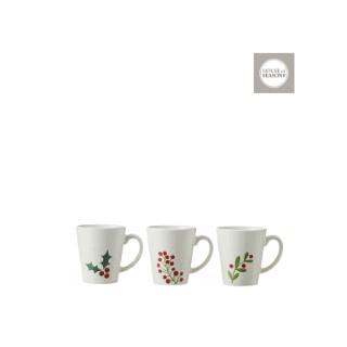 Tasses de Noël blanche – 10x9 cm 409534