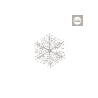 Ornement de Noël Flocon de neige blanc Ø 12 cm 409536