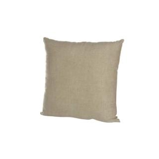 Coussin carré en lin naturel beige 45x45 cm 409664