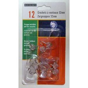 Ventouses à crochet en plastique x 2 Ø 8 cm 409713