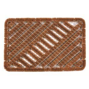 Paillasson d'extérieur Island en fibre de coco marron - 60 x 40 cm 41013