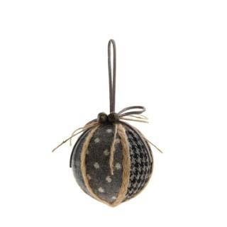 Boule en tissu écossais à carreaux Ø 10 cm 410406