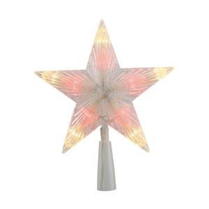 Cimier en étoile LED avec éclairage rouge et blanc chaud 3 V 410413