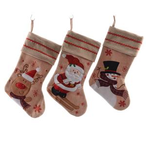 Chaussette de Noël à suspendre en coton avec motif 410503