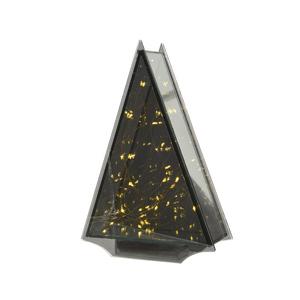 Boîte en verre triangulaire à micro LED 6.5 x 18 x 25 cm 410518