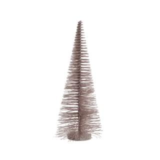 Arbre en plastique rose poudre avec paillettes H 50 x 20 cm 410551