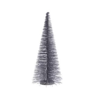 Arbre en plastique gris cloudy avec paillettes H 50 x 20 cm 410553