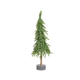 Mini sapin de Noël en polyéthylène sur support 23 x 23 x 78 cm 410585