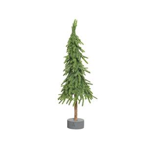 Mini sapin de Noël en polyéthylène sur support 13 x 13 x 45 cm 410586