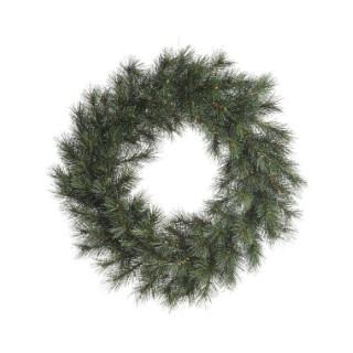 Couronne norway givrée vert et blanc Ø 35 cm 410588